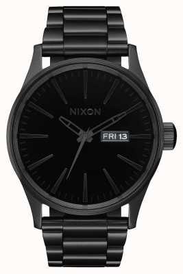 Nixon Sentry ss | tutto nero / nero | bracciale in acciaio ip nero | quadrante nero A356-1147-00