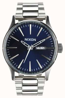 Nixon Sentry ss | raggio di sole blu | bracciale in acciaio inossidabile | quadrante blu A356-1258-00