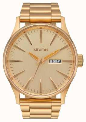 Nixon Sentry ss | tutto oro | bracciale in acciaio ip oro | quadrante in oro A356-502-00