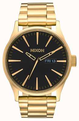 Nixon Sentry ss | tutto oro / nero | bracciale in acciaio ip oro | quadrante nero A356-510-00