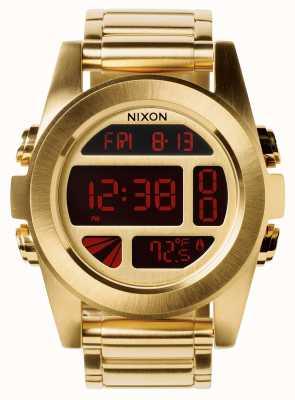 Nixon Unità ss | tutto oro | digitale | bracciale in acciaio ip oro | A360-502-00