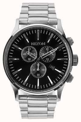 Nixon Sentry chrono | nero | bracciale in acciaio inossidabile | quadrante nero A386-000-00