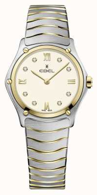 EBEL Classico sportivo da donna | bracciale in acciaio inossidabile bicolore | quadrante avorio 1216418A