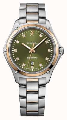 EBEL Scoperta delle donne | bracciale in acciaio inossidabile argento | quadrante verde | 1216424