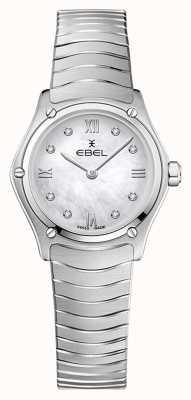 EBEL Classico sportivo da donna | bracciale in acciaio inossidabile | quadrante in argento con diamanti 1216474A