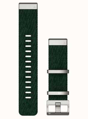 Garmin Cinturino verde in nylon con trama jacquard Quickfit 22 010-13008-00