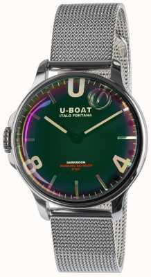 U-Boat Darkmoon 38mm bracciale in metallo nero ss 8471/MT