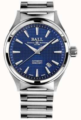Ball Watch Company Vittoria del pompiere | bracciale in acciaio | clous de paris blu NM2098C-S5J-BE
