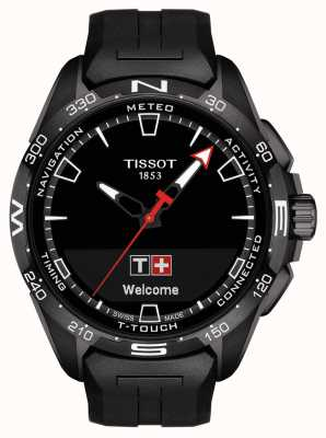 Tissot T-touch connect solar | cinturino in silicone nero T1214204705103