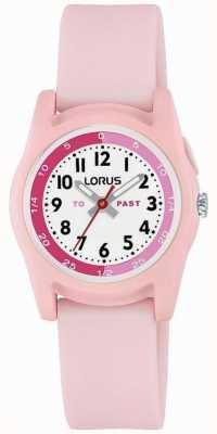Insegnante del tempo per bambini Lorus con cinturino in silicone rosa R2357NX9