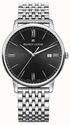 Maurice Lacroix Eliros da uomo | bracciale in acciaio inossidabile | quadrante nero EL1118-SS002-310-2