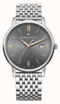 Maurice Lacroix Eliros da uomo | bracciale in acciaio inossidabile | quadrante nero / grigio EL1118-SS002-311-2