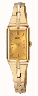 Seiko Bracciale da donna in acciaio tonalità oro | quadrante in oro SWR048J8