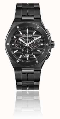 Michel Herbelin Cap camarat chrono | bracciale in acciaio nero | quadrante nero 37645/BN14