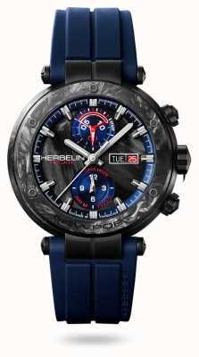 Michel Herbelin Newport régate carbone | cinturino in silicone blu | custodia in carbonio 288/CN45CB