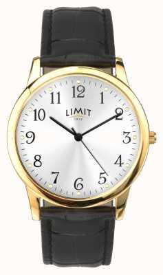 Limit Cassa in oro Cinturino nero effetto coccodrillo da 38 mm 5953.01