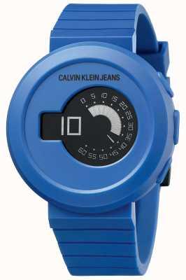 Calvin Klein Digirock uomo | cinturino in silicone blu | quadrante nero KAN51YV1