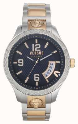 Versus Versace | uomo | reale | bracciale in acciaio bicolore | quadrante blu | VSPVT0920