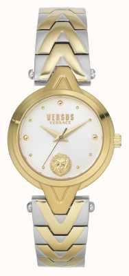 Versus Versace V_versus forlanini donna | bracciale in acciaio bicolore | quadrante argentato VSPVN1020