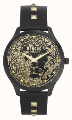 Versus Versace | delle donne | domus | cinturino in pelle nera | quadrante nero | VSPVQ0520