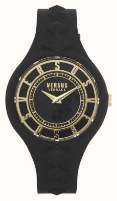 Versus Versace Isola del fuoco femminile | cinturino in silicone nero | quadrante nero VSP1R1020