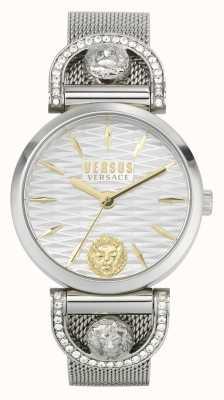 Versus Versace Iseo donna | bracciale in maglia di acciaio inossidabile | quadrante bianco VSPVP0420