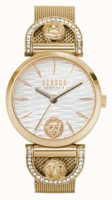 Versus Versace Iseo donna | bracciale in maglia oro rosa | quadrante bianco VSPVP0720