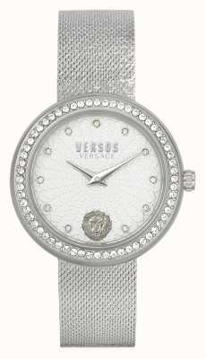 Versus Versace | delle donne | lea | acciaio inossidabile | braccialetto a maglie | quadrante argento | VSPEN1420