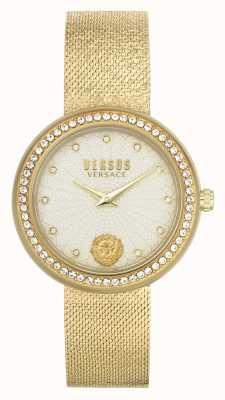 Versus Versace | delle donne | lea | bracciale in maglia d'oro | quadrante champagne | VSPEN1520
