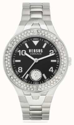 Versus Versace Vittoria femminile | bracciale in acciaio inossidabile | quadrante nero VSPVO0520