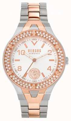 Versus Versace Vittoria femminile | bracciale in acciaio bicolore | quadrante bianco VSPVO0620