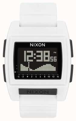 Nixon Base tide pro | bianco | digitale | cinturino in silicone bianco A1212-100-00