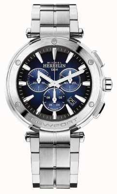 Michel Herbelin Cronografo newport da uomo | bracciale in acciaio inossidabile | 37688/B35