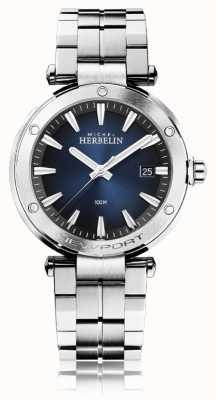 Michel Herbelin Newport uomo | bracciale in acciaio inossidabile | quadrante blu 12288/B15