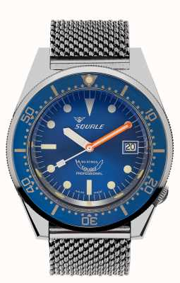 Squale 1521 ocean mesh | quadrante blu | bracciale in maglia di acciaio inossidabile 1521OCN-CINSS20