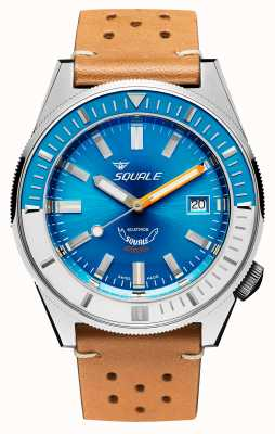 Squale Matic xse | quadrante blu acciaio | cinturino in pelle color cammello MATICXSE00-CINU1565CM