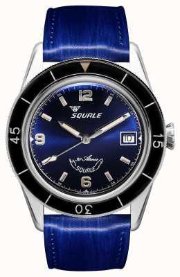 Squale 60 anni blu | sub-39 | cinturino in pelle blu | quadrante blu SUB39BL-CINSQ60BL
