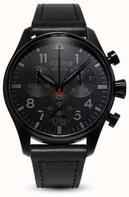 Alpina Startimer pilot chrono | cinturino in pelle nera AL-372BB4FBS6