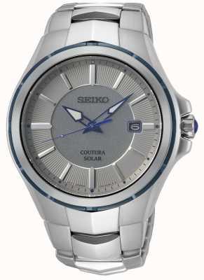 Seiko Coutura | bracciale in acciaio inossidabile | quadrante grigio / argento SNE565P9