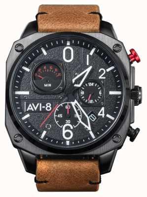 AVI-8 Hawker hunter | cronografo | cinturino in pelle marrone AV-4052-02