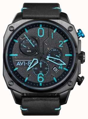 AVI-8 Hawker hunter | cronografo | cinturino in pelle nera AV-4052-05