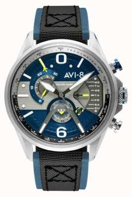 AVI-8 Hawker Harrier II | cronografo | quadrante blu | cinturino nato nero in pelle blu AV-4056-01