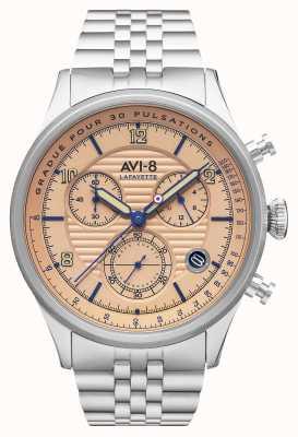 AVI-8 Flyboy lafayette | cronografo | bracciale in acciaio inossidabile AV-4076-44