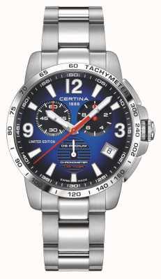 Certina | podio ds | cronometro | bracciale in acciaio inossidabile | quadrante blu | C0344531104710