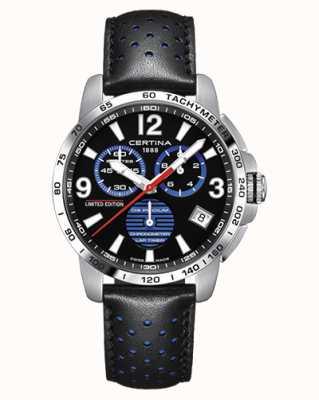 Certina | podio ds | cronometro | cinturino in pelle nera | quadrante nero | C0344531605720