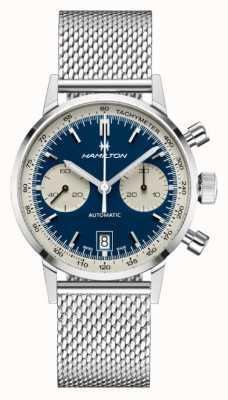 Hamilton Classico americano | crono automatico intra-matic | bracciale in maglia d'acciaio H38416141