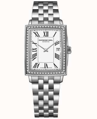 Raymond Weil Toccata | diamante | quadrante bianco | bracciale in acciaio inossidabile 5925-STS-00300