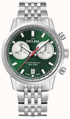 Delma Cronografo Continental | bracciale in acciaio inossidabile | quadrante verde 41701.704.6.141