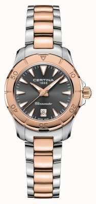 Certina Azione DS | bracciale in acciaio bicolore | quadrante grigio | cosc C0329512208100