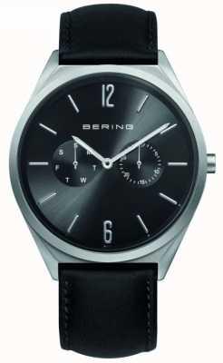 Bering Collezione classica   cinturino in pelle nera   quadrante nero 17140-402